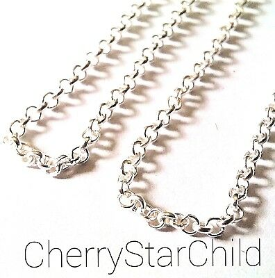 Silver pl fine classic rolo chain necklace craft jewellery findings 30cm lengths