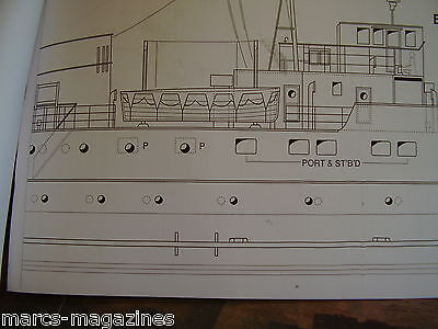 A Model Boat Plan Bute Passenger Ferry   On A3 Scale 1:75