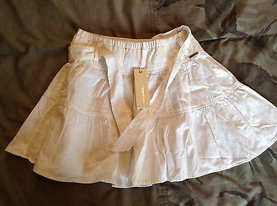 diesel girls white short flare skirt , aged 8 years brand new with tags,