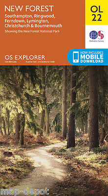 NEW FOREST EXPLORER Map - OL22 - OS Ordnance Survey - *NEW* inc.MOBILE DOWNLOAD