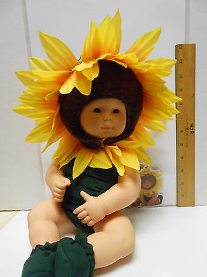 Anne Geddes Baby Sunflower 15 Inch Vinyl Doll 1999