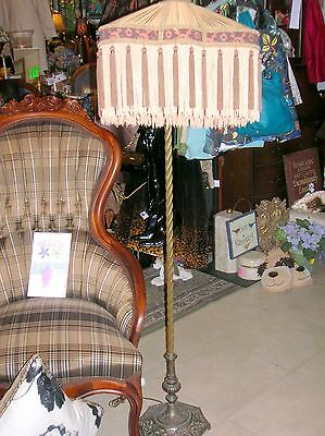 Architechtural Salvage Memphis: VictorianBridgeLamp w/Antique SilkFringed Shade