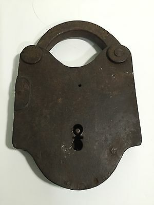 Antique Vintage Huge Old Cast Iron Padlock