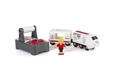 Remote powered train with conductor by Brio