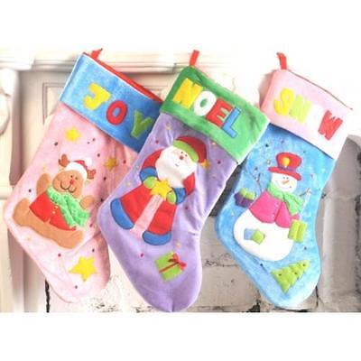 Christmas Stockings.  Blue, Pink,  Lilac  Childrens Stockings. JOY, NOEL, SNOW