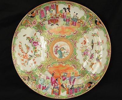 Antique Chinese Famille Verte Rose Plate or Shallow Bowl
