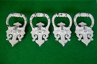 Drawer Door Cabinet Pulls Handles St4 Chic Shabby White Distressed