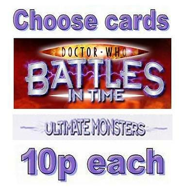 Doctor Who ULTIMATE MONSTERS cards 600-825, only 10p each Battles In Time