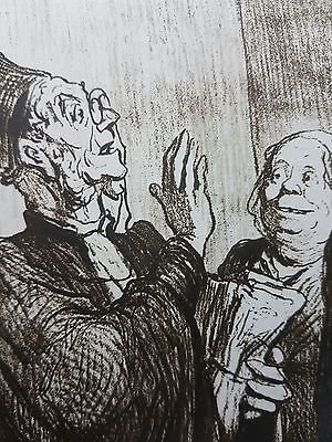 19C Honore Daumier signed , limited edition Lithograph. Imressionism.