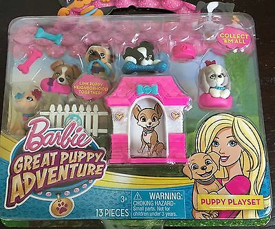 Barbie Great Puppy Adventure with Pink/White Dog House