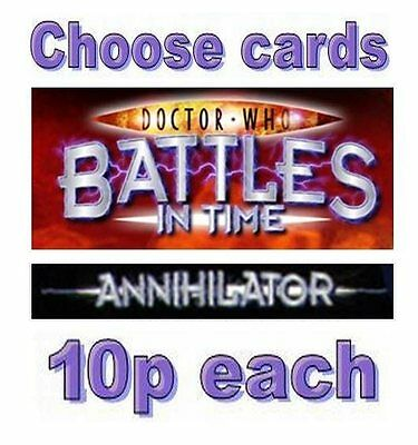 Doctor Who ANNIHILATOR cards 276-375, ONLY 10p EACH common rare battles in time