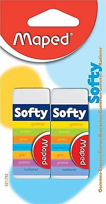 Maped Softy Eraser (2 Pack) Rubber Artist Drawing Craft Accessories 2 Pack