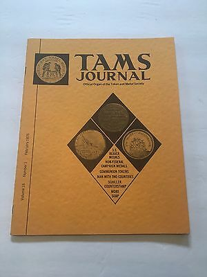 TAMS Journal Vol 18 #1 Feb 1978 S.S. Beaver Medals Campaign Communion Tokens