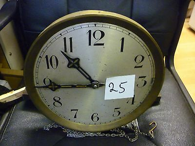 Original 1930s Longcase Grandfather Clock Weight Driven Chime Movement+Dial(25)