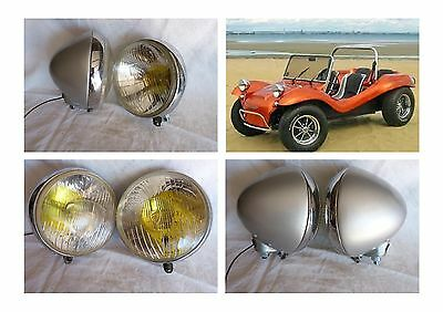 2 Anciens Phares  Marchal Edulux . Ideal Buggy .code/phare+Veilleuse . Vintage