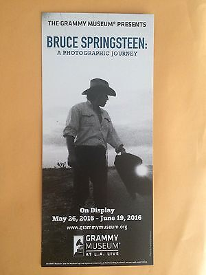 "Bruce Springsteen L.A. Grammy Museum 4"" X 9"" Set Of (2) Color Promo Cards"