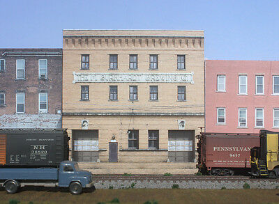 #344 !!NEW!! O scale background building flat BURKHARDT BREWING FREE SHIPPING