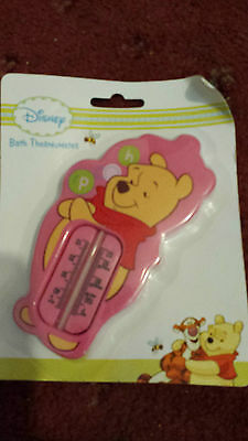 Pink Winnie The Pooh Bath Thermometer