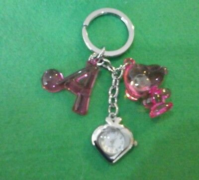 New HEART Shaped Watch Snoopy keyring Xmas gift UK seller