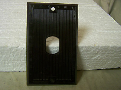Vintage Cover Plate Brown Ribbed Bakelite Despard Line Single Hole Vtg P & S