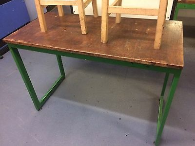 6 X Vintage Tables Industrial Cafe Restaurant Science ExSchool Delivery Possible