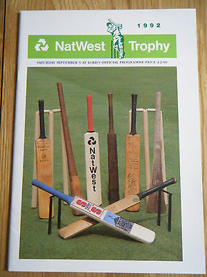 1992 Natwest Trophy Final Programme - Leicestershire & Northamptonshire