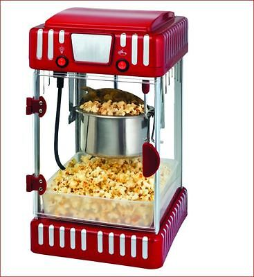 New Hollywood Vintage Electric Red Hot Popcorn Maker Theater Movie Style Machine
