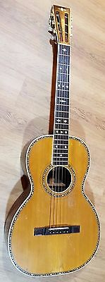Parlor Guitar Vintage Turn of Century Restored Beautiful