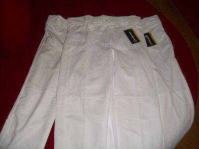 NEW! 3 Pairs of Easton Rival Youth White Baseball Pants Size Youth XL