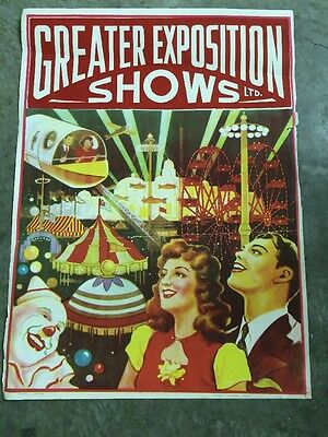 Greater Exposition Shows (Bill Lynch) Carnival Circus Poster ~1940s
