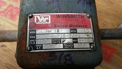 Right Angle Gearbox Speed Reducer 90 Degrees Winsmith 30:1