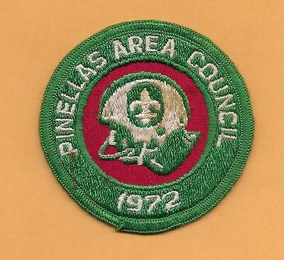 """Pinellas Area Council 1972 Football   Bsa Patch 3"""""""