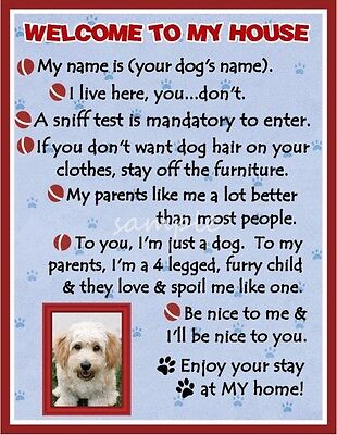 CAVACHON Dog House Rules Refrigerator Magnet PERSONALIZED