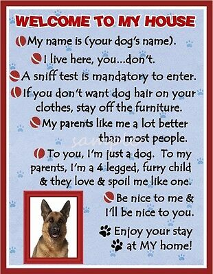 GERMAN SHEPHERD Dog House Rules Refrigerator Magnet PERSONALIZED