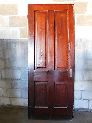 Antique Victorian Style Interior Door - Circa 1895 Fir Architectural Salvage
