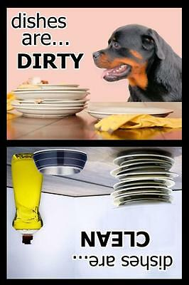 ROTTWEILER Dishwasher Magnet Clean/Dirty NEW DESIGN!