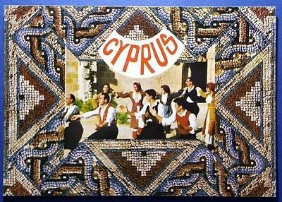 Cyprus postcard: Folk Dancers dancing in traditional costumes,unposted.