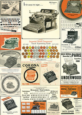Cavallini Vintage Typewriters Wrapping Paper