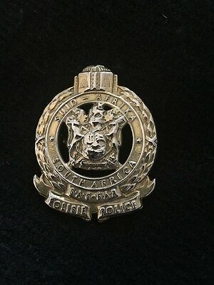 South African Railway Police Hat Badge
