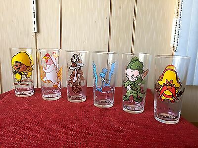 Drinking Glasses Collectors Warner Bros. 1973 Cartoons Characters