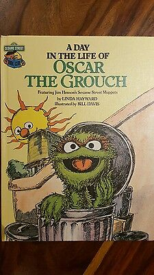1981 sesame street golden press book a day in the life of Oscar the grouch