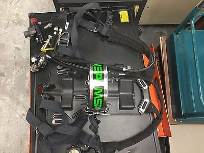Lot of 7 - MSA Air Mask Pack Harnesses w/ cases