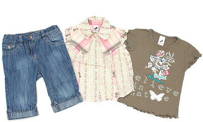 C&A PALOMINO 3/4 Jeans, Patchwork-Bluse und T-Shirt - 98
