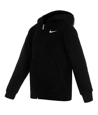 Boys Girls Nike Fundamentals Zip Hoody Kids Black 8,9,10,11,12,13,14,15 Years