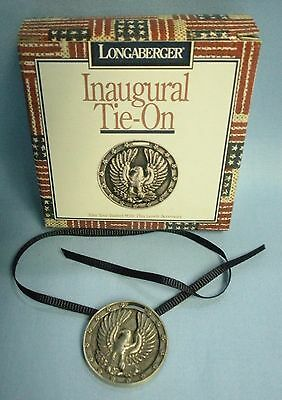 Longaberger Tie-Ons . NEW IN BOX . 1996 - Inaugural (Pewter Eagle) # 71609