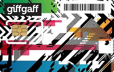 New Free GiffGaff UK Mobile Prepaid 3G 4G Lte Nano Micro Sim Card To Your Addres