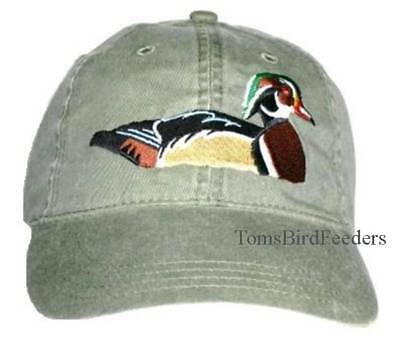 Wood Duck Embroidered Cotton Cap NEW Hat