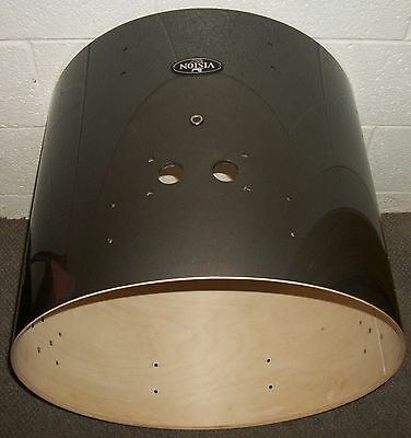 """PEARL VISION 22"""" Bass Drum SHELL - 18"""" Deep - BIRCH - Gray Lacquer"""