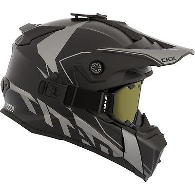 CKX 2017 – Titan Cliff Mat Grey Modular Snow Helmet - Small