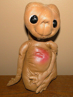 """9.5"""" Used 1982 Vintage Kamar """"E.T."""" The Extra-Terrestrial  Faux Leather Doll"""